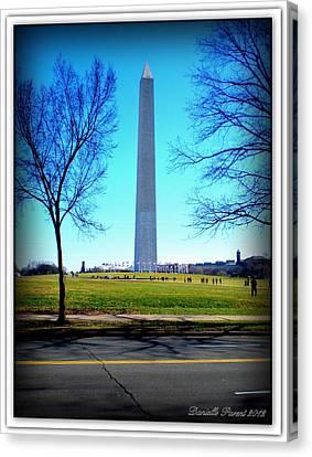 Canvas Print featuring the photograph Memorials Washington  D.c. by Danielle  Parent