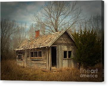 Abandoned House Canvas Print - Memories Are Made Of This by Betty LaRue