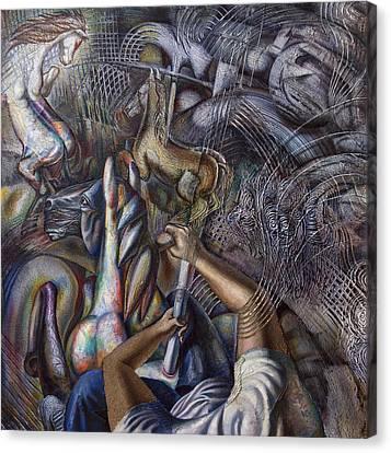 Memories Of A Carousel Canvas Print by Fernando Alvarez