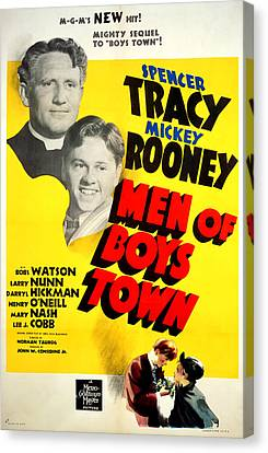 1941 Movies Canvas Print - Men Of Boys Town, Spencer Tracy, Mickey by Everett