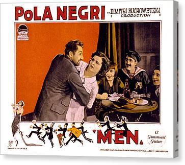 Men, Pola Negri, 1924 Canvas Print by Everett