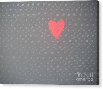 Mending The Holes In My Heart Canvas Print by Jeannie Atwater Jordan Allen