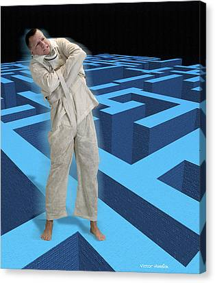 Psychiatric Patient Canvas Print - Mental Illness by Victor Habbick Visions