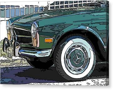 Mercedes Benz 280sl Roadster 2 Canvas Print by Samuel Sheats