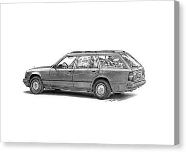 Mercedes-benz E-class Wagon Canvas Print by Gabor Vida