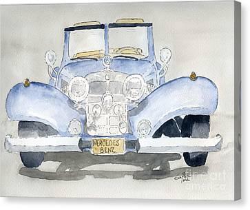 Mercedes Benz Canvas Print by Eva Ason