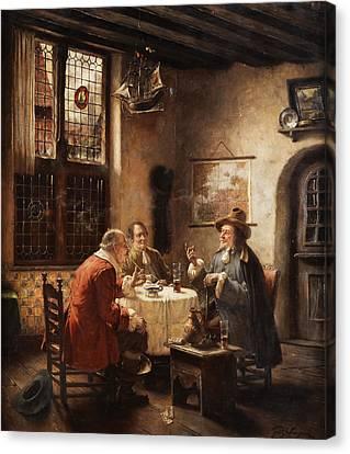Merchants Canvas Print by Fritz Wagner