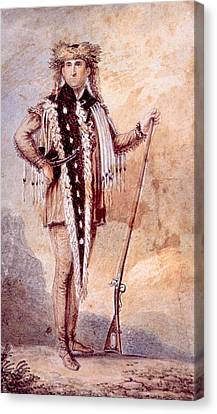 Meriwether Lewis 1774-1809, Co-leader Canvas Print by Everett