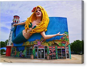 Mermaid Building Canvas Print by Garry Gay