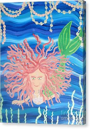Mermaid Enmity Canvas Print by Eva  Dunham
