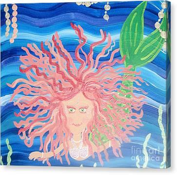 Mermaid Enmity II Canvas Print by Eva  Dunham