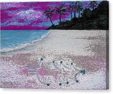 Merry Beachy Christmas Canvas Print