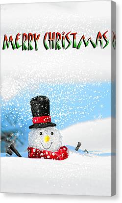 Merry Christmas Canvas Print by Billie-Jo Miller