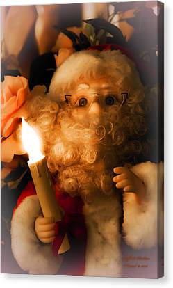 Canvas Print featuring the photograph Merry Christmas by Itzhak Richter