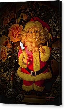 Canvas Print featuring the photograph Merry Christmas To You by Itzhak Richter