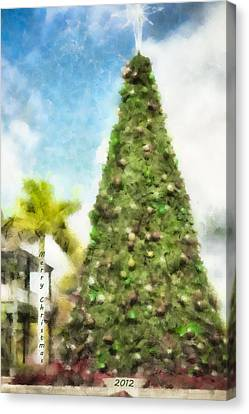 Merry Christmas Tree 2012 Canvas Print by Trish Tritz