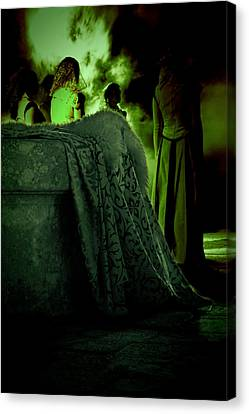 Wiccan Canvas Print - Merry Meet Green by Jasna Buncic