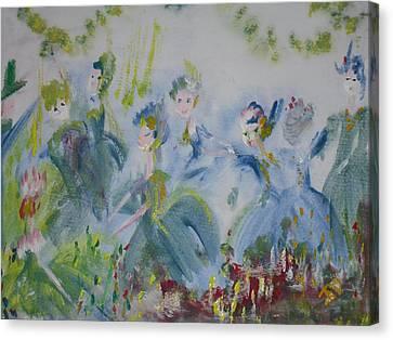 Merry Waltz Canvas Print by Judith Desrosiers