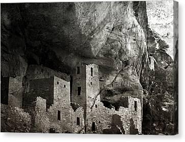 Mesa Verde - Monochrome Canvas Print by Ellen Heaverlo