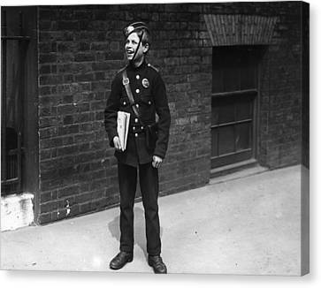 Messenger Boy Canvas Print by General Photographic Agency
