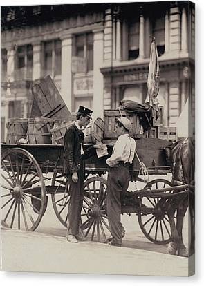 Messenger Boys On A Hurry Call In Union Canvas Print by Everett