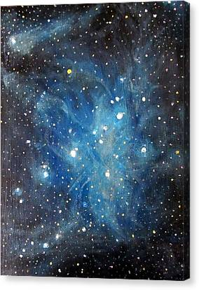 Messier 45 Pleiades Constellation Canvas Print by Alizey Khan