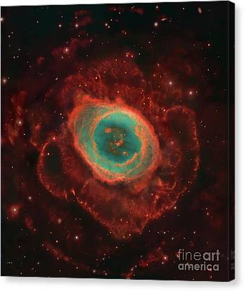 Messier 57, The Ring Nebula Canvas Print by Robert Gendler