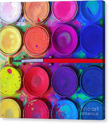 Messy Paints Canvas Print by Carlos Caetano