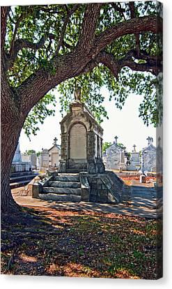 Metairie Cemetery Canvas Print - Metairie Cemetery by Steve Harrington