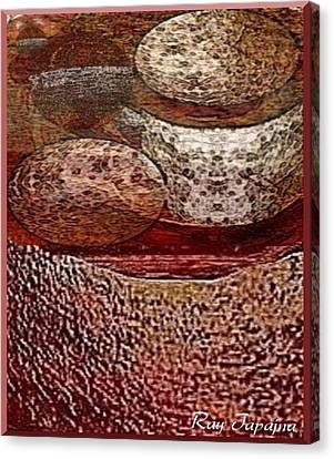 Canvas Print featuring the mixed media Metal Art Rocks by Ray Tapajna