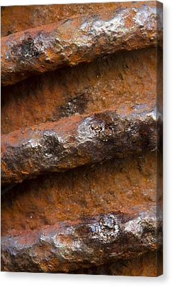Canvas Print featuring the photograph Metal Coil by Carrie Cranwill