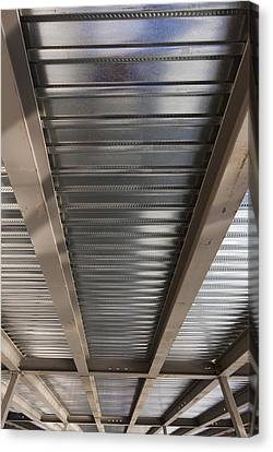 Metal Decking Over Structural Steel Canvas Print by Don Mason