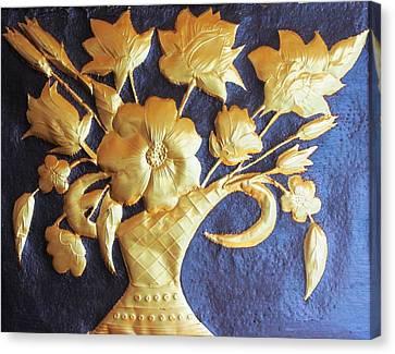 Metal Flowers Canvas Print by Rejeena Niaz