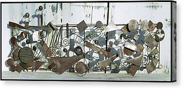 Metal Sculpture  Canvas Print by Tommy  Urbans