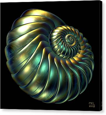 Metallic Nautiloid Canvas Print