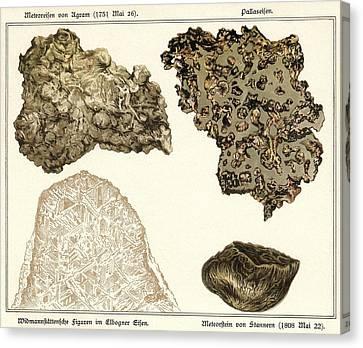 Meteorites, Historical Artwork Canvas Print
