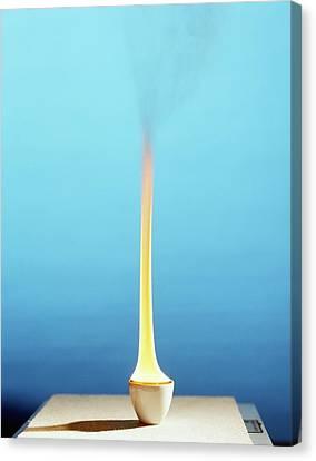 Methylbenzene Burning Canvas Print by Andrew Lambert Photography