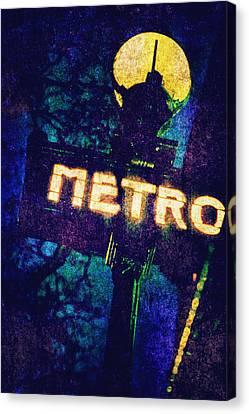 Metro Canvas Print by Skip Nall