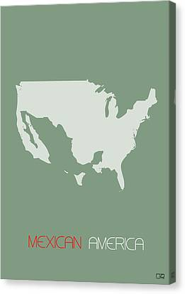 Mexican America Poster Canvas Print by Naxart Studio