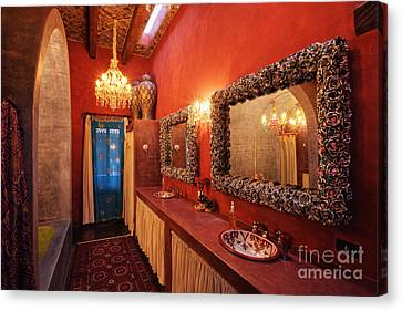 Counter-culture Canvas Print - Mexican Bathroom by Jeremy Woodhouse