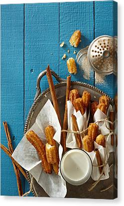 Mexican Churros Canvas Print by Lew Robertson