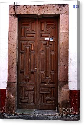 Mexican Door 45 Canvas Print by Xueling Zou