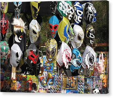 Mexican Masks Canvas Print by Stav Stavit Zagron