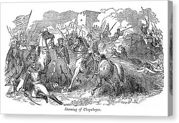 Mexican War: Chapultepec Canvas Print by Granger