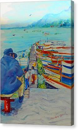 Mexico Lake Chapala Canvas Print by Estela Robles