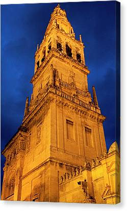 Canvas Print featuring the photograph Mezquita Tower by Lorraine Devon Wilke