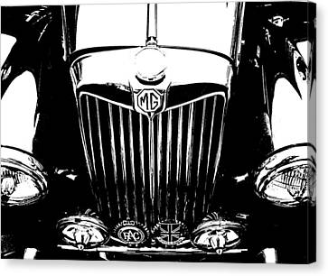 Mg Grill Black And White Canvas Print by Nick Kloepping