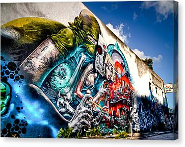 Cities Canvas Print - Miami Art In Wynwood District by Andres Leon