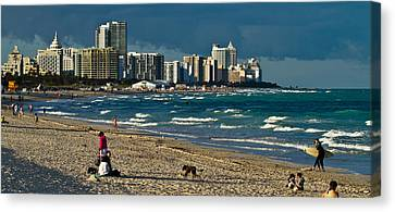 Miami Beach Afternoon Skyline  Canvas Print by Andres Leon