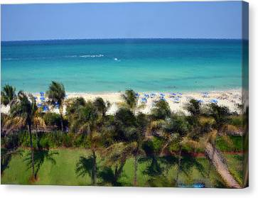 Canvas Print featuring the photograph Miami Beach by Pravine Chester